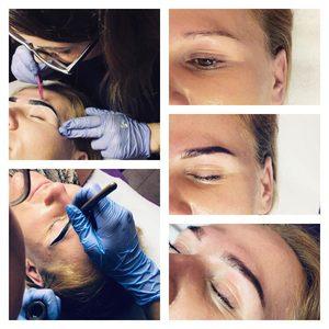 Crystal Clinic - Henna Pudrowa BROW XENNA + depilacja brwi woskiem Lycon