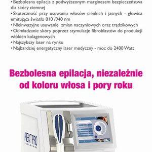 DAY SPA INNOWACJE - Laser Diodowy MedioStar - usuwanie owłosienia - POLICZKI Kobieta - 150zł, 150 zł